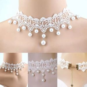 🎀New Lace Pearl Choker Statement Necklace Jewelry